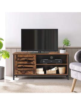 imagem de Móvel Tv 50 Polegadas Castanho Rústico E Preto2