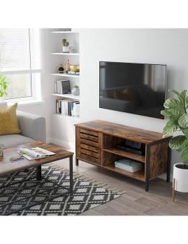 imagem de Móvel Tv 50 Polegadas Castanho Rústico E Preto4
