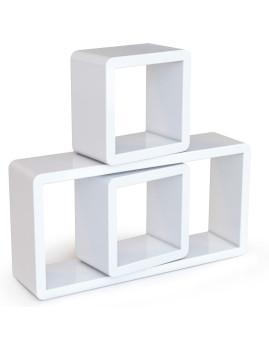 imagem de Prateleiras 3 Cubos Branco1