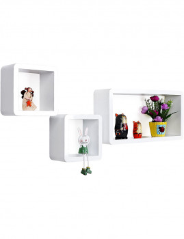 imagem de Prateleiras 3 Cubos Branco2