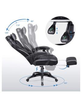 imagem de Cadeira Escritório Cinza E Preto3