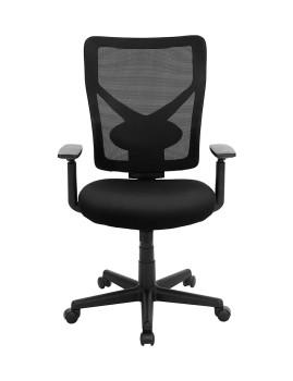 imagem de Cadeira Escritório Ajustável Com Suporte Lombar Preto1