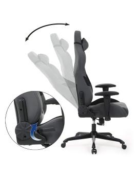 imagem de Cadeira Gaming Com Suporte Lombar Cinza E Preto5