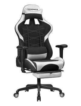 imagem de Cadeira Gaming Ajustável Preto E Branco1