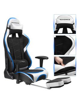 imagem de Cadeira Gaming Ajustável Preto E Branco5