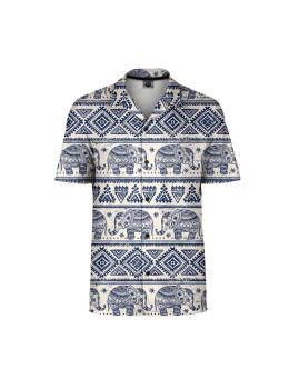Camisa Homem  Mr. Gugu & Miss Go Elephants Pattern