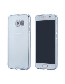 Capa Azul De Silicone dianteira  + Traseira Para Samsung Note 5 Azul