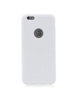 Capa De Silicone Rugosa Cor Única Iphone 6. Branco