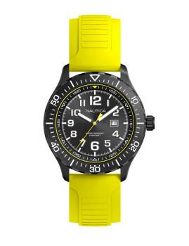 Relógio Nautica Homem Preto e Amarelo