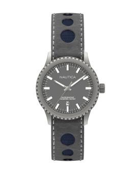 Relógio Nautica Homem Prateado e Cinza Escuro