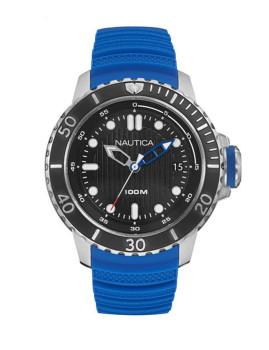 Relógio Nautica Homem Prateado, Azul e Preto