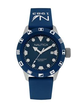 Relógio Nautica Homem Prateado e Azul