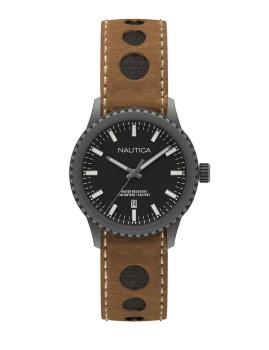 Relógio Nautica Homem Preto e Castanho