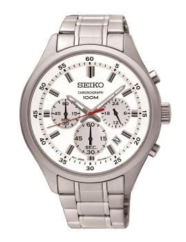 Relógio Seiko Branco Homem