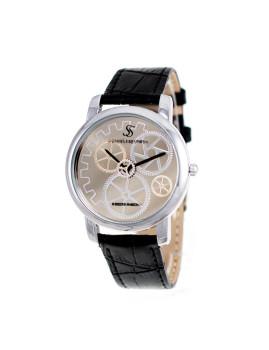 Relógio Homem SC Crystals Preto e Dourado