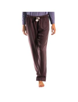 Calças de Pijama CK Senhora Castanho Escuro