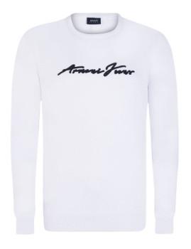 Camisola de Malha decote redondo Armani Jeans Branca