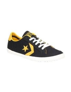Ténis Converse Star Player Canvas Ox Pretos e Amarelos