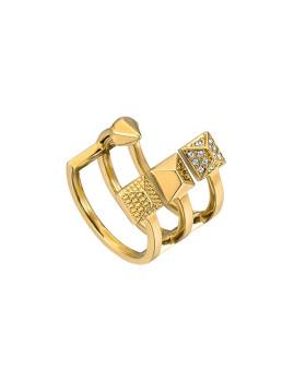 Anel Just Cavalli Logoshine Dourado