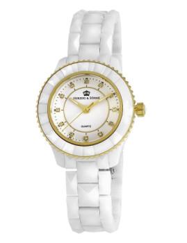 Relógio Herzog & Söhne Senhora Dourado e Branco