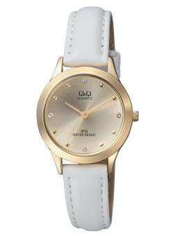 Relógio Q&Q Branco e Dourado