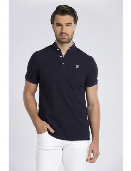 Polo de manga curta Jimmy Sanders Azul Navy