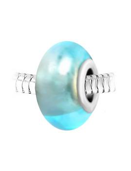 Conta Vidro So Charm Azul Claro