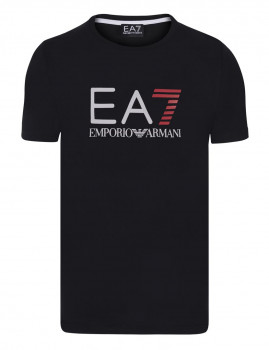 T-Shirt de Homem Armani  Preto, Vermelho e Branco