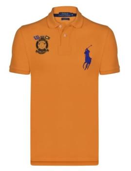 Pólo Ralph Lauren Marine Laranja e Azul Navy Homem