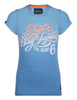 T-Shirt SuperDry Mulher Azul Senhora