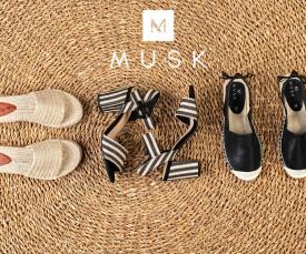 Imagem da campanha Musk Shoes