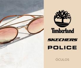 Imagem da campanha Police, Timberland e Skechers