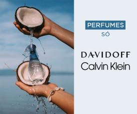 Imagem da campanha Perfumes SÓ Davidoff e Calvin Klein