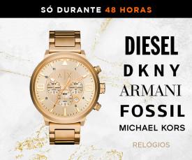 Imagem da campanha DKNY, Diesel, Fossil, Armani e muito mais...só 48H
