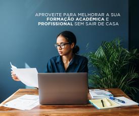 Imagem da campanha Aproveite para melhorar a sua formação académica e profissional sem sair de casa!!