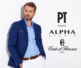 Imagem da campanha Conte of Florence, Alpha Studio e PT Torino