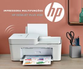Imagem da campanha Novidade!! Impressora Multifunções HP Deskjet Plus 4120 a 99,99Eur.
