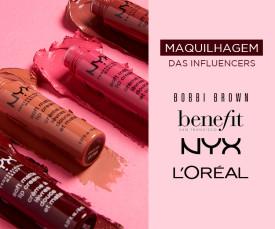 Imagem da campanha Maquilhagem de Influencers