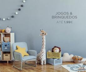 Imagem da campanha Jogos e Brinquedos!
