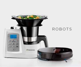 Imagem da campanha Robots que facilitam a vida