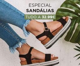 Especial Sandálias tudo 32.99€