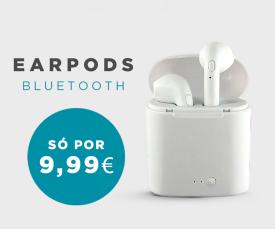 Imagem da campanha Os best seller de volta!!Auriculares Earpods com dock de carregamento 9.99 Eur.