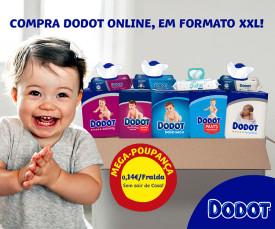 Imagem da campanha DODOT- O Melhor para o seu Bebé