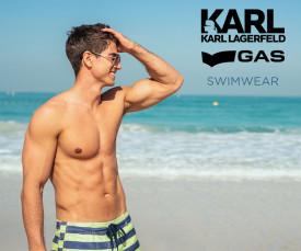 Karl Lagerfeld e Gas Swimwear