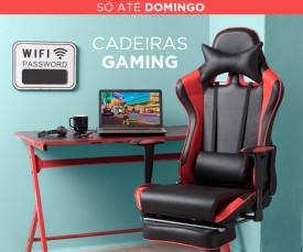 Só até Domingo! Cadeiras Gaming desde 109.99eur