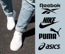 Puma, Reebok, Nike e mto mais