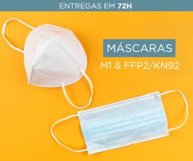 Imagem da campanha Packs de Máscaras M1 e FFP2/KN95 Melhor Preço 72H