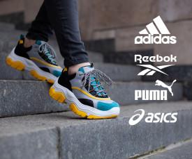 Imagem da campanha Adidas, Reebok, Puma, Asics e mto mais...