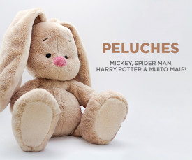 Peluches! Mickey, Spider Man, Harry Potter e muito mais!