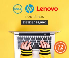 Imagem da campanha Teletrabalho ou Telescola !!! Portáteis HP, Apple, Lenovo desde  259.99 Eur. com entrega em 72H